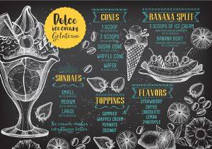 menu reštaurácia marketing