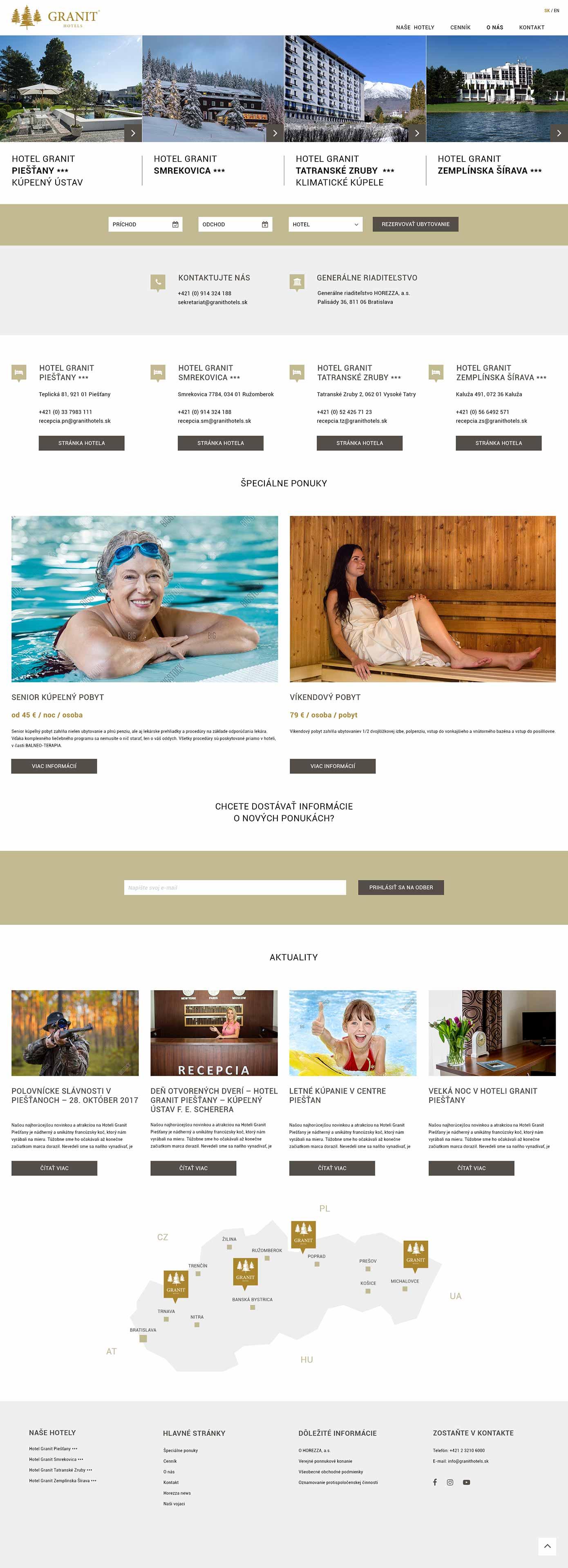 Webdizajn hotel Granit