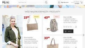 Hlavná stránka webdizajn Kabelkymoda.sk