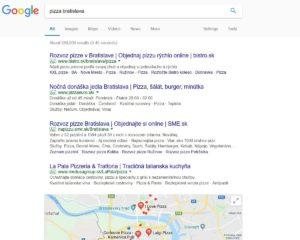 Google lokálne výsledky