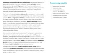 Rozšírený produktový text