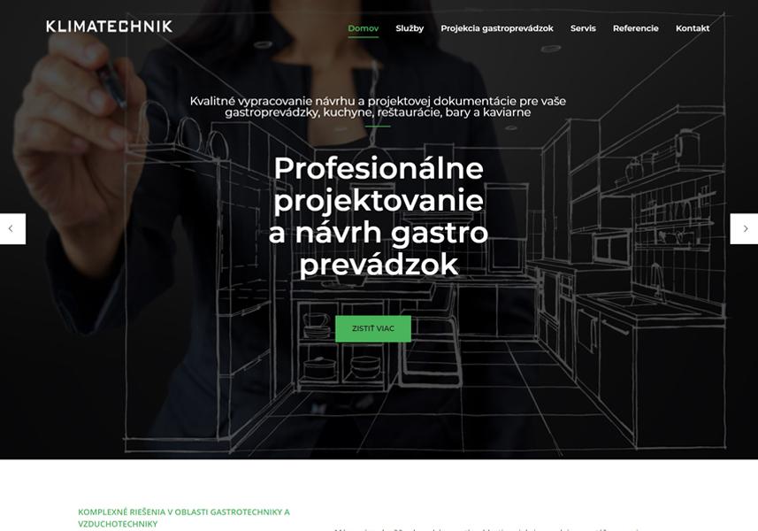 Webstránka pre Klimatechnik.sk