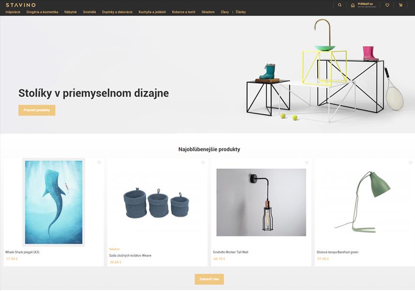 E-shop na prenájom s úpravami na mieru Stavino.sk